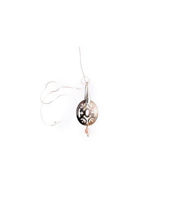 boucles d'oreilles argent 925 avec nacre et perle d'eau douce